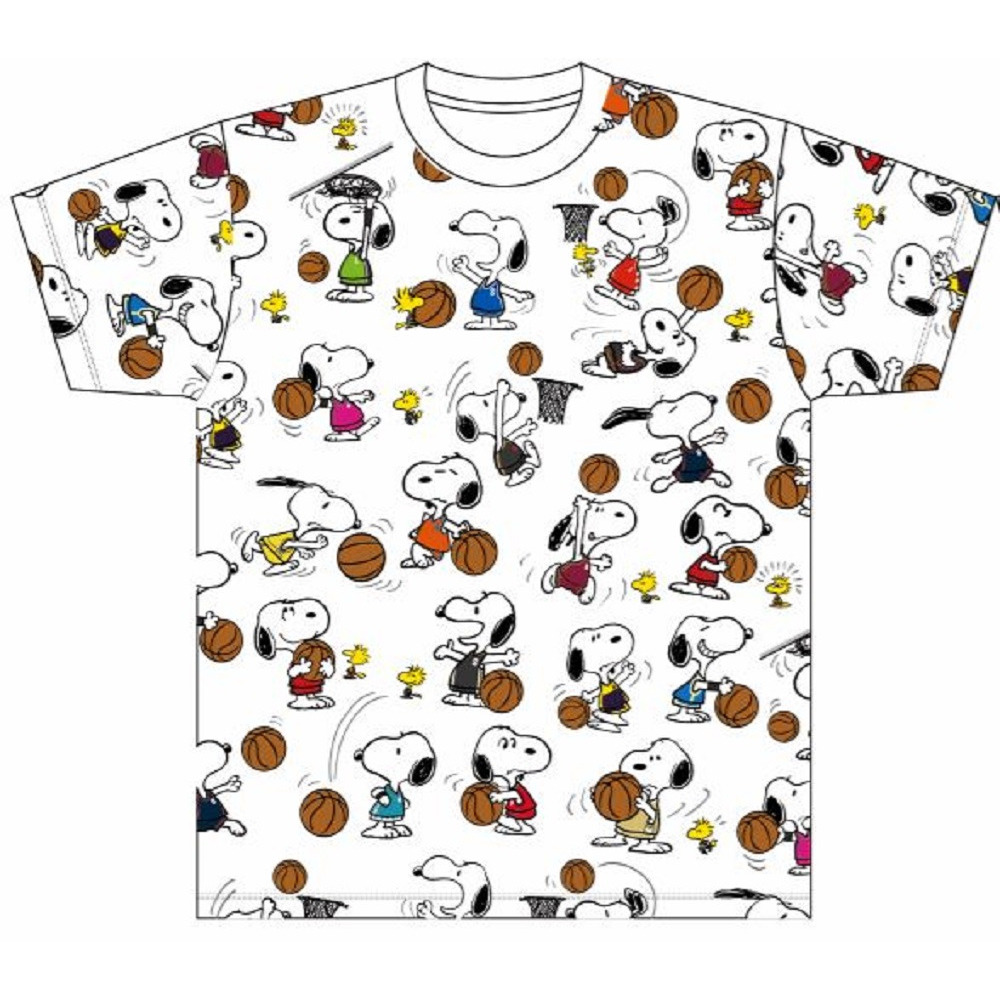 PEANUTS×B.LEAGUE Tシャツ(総柄) 詳細画像 1カラー 1