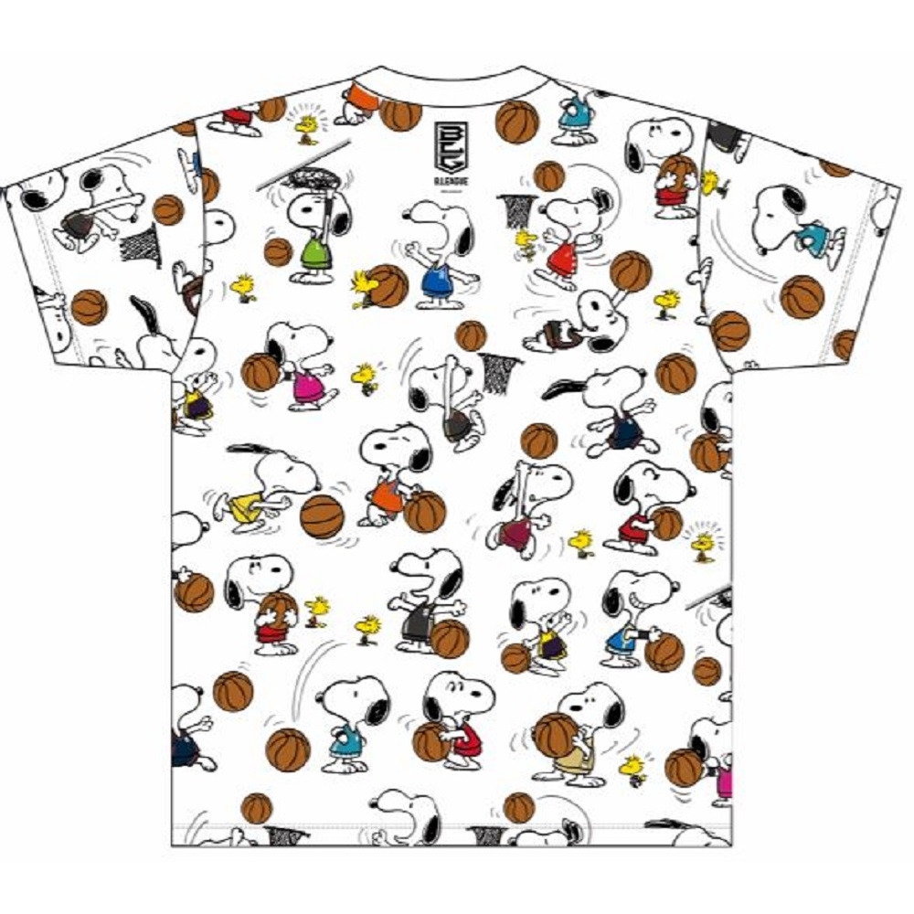 PEANUTS×B.LEAGUE Tシャツ(総柄) 詳細画像 1カラー 2