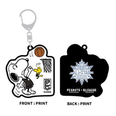 PEANUTS×B.LEAGUE ALL-STAR GAME2020 ラバーキーホルダー B-BLACK