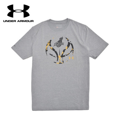 【SALE】:【UNDER ARMOUR (アンダーアーマー)×大阪エヴェッサ】プリントTシャツ(GRAY)